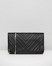 Claudia Canova Quilted Fold Over Clutch Bag