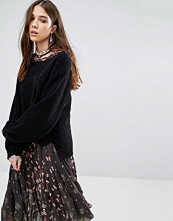 Free People Dont Let Me Go Jumper With Oversized Sleeves