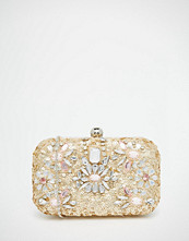 Glamorous Sequin Embellished Box Clutch Bag