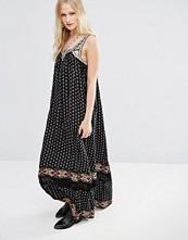 Hazel Boho Border Print Maxi Dress