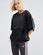 Adidas Originals Drawstring Waist Top With Tonal Trefoil Logo