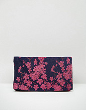 ASOS Brocade Foldover Clutch Bag