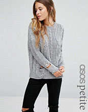ASOS Petite Cable Jumper with Ladder Detail