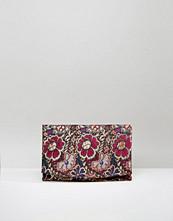ASOS HENA Floral Brocade Foldover Clutch Bag