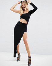 ASOS Halloween Cut Out Maxi Playsuit with One Shoulder