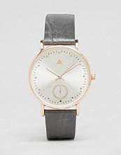 ASOS Large Face Minimal Grey Strap Watch