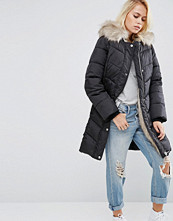 ASOS Padded Jacket with faux Fur and Hood