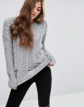 ASOS Cable Jumper with Ladder Detail