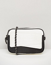 ASOS Mono Croc And Snake Mix Cross Body Bag