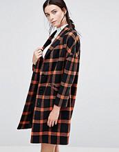 Helene Berman Ema Coat in Black and Orange Check
