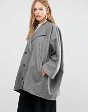 Cooper & Stollbrand Oversize Double Breasted Short Coat in Grey