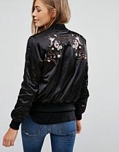 Pimkie Floral Embroidered Bomber Jacket