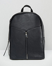 Pieces Simple Backpack With Front Zip Detail