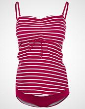 Boob FAST FOOD Badedrakt stripe magenta pink/offwhite