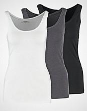 Zalando Essentials 3 PACK Topper black/white/dark grey