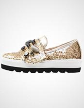 Hegos Slippers bianco/nero/oro
