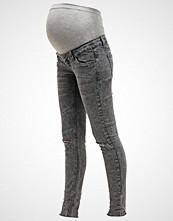 Mamalicious MLSAMMY  Slim fit jeans dark grey denim