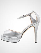 Paco Mena ACEBO Høye hæler med åpen front silver