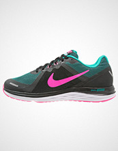 Nike Performance DUAL FUSION X 2 Løpesko med demping black/pink blast/clear jade/white/reflect silver