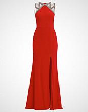 Unique Fotsid kjole lipstick red