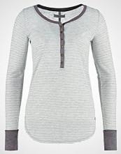 Abercrombie & Fitch Topper langermet grey heather/white stripe