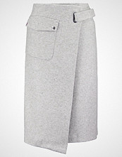 Filippa K Wrapskjørt light grey melange