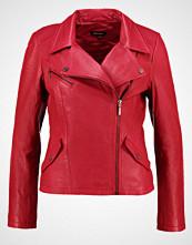 More & More Skinnjakke vintage red