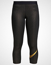 Nike Performance 3/4 sports trousers black/metallic/gold