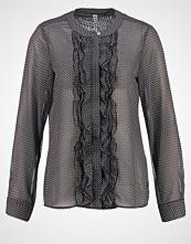 Seidensticker Skjorte schwarz/weiß