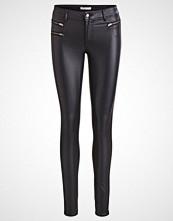 Vila VICOMMIT ZIP COATED Jeans Skinny Fit black
