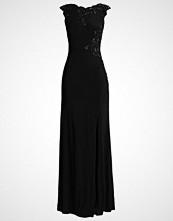 Luxuar Fashion Fotsid kjole schwarz