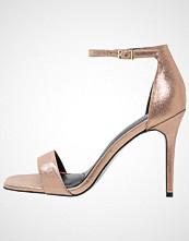 Warehouse Sandaler med høye hæler metallic