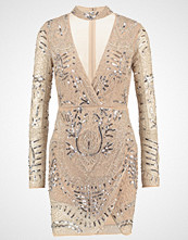 Missguided PEACE + LOVE Cocktailkjole silver/nude