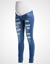 Mamalicious MLNEWSILJE Slim fit jeans med blue denim