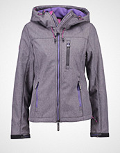Superdry Lett jakke dark grey/gritfluro purple