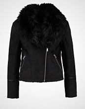 Miss Selfridge SHEARLING Imitert skinnjakke black