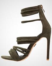 Lost Ink RALLY Sandaler med høye hæler khaki