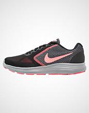 Nike Performance REVOLUTION 3 Nøytrale løpesko black/lava glow/hot punch/cool grey