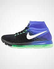 Nike Performance ZOOM ALL OUT FLYKNIT Høye joggesko black/white/medium blue/electro green
