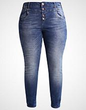 Zizzi NILLE Slim fit jeans dark blue denim