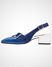 Alberto Zago Klassiske pumps cobalto blue/bianco