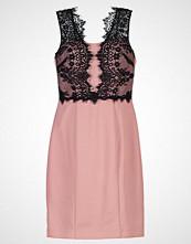 Laona Sommerkjole black/dusty pink