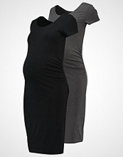 Zalando Essentials Maternity 2 PACK Jerseykjole black/dark grey melange