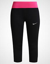 Nike Performance POWER 3/4 sports trousers black/vivid pink/reflective silver