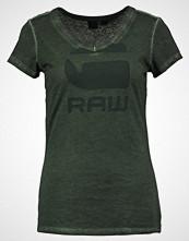 G-Star GStar SUPHE SLIM V T S/S Tshirts med print dk vermont green