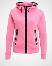 Superdry Treningsjakke neon pink grit