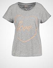 Vero Moda VMVALENTINE Tshirts med print light grey melange