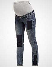 Mamalicious MLPATCH Straight leg jeans medium blue denim