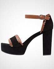 Unisa VALENA Sandaler med høye hæler black/walnut