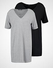 Missguided 2 PACK Jerseykjole black/ grey marl